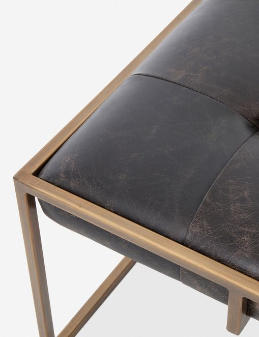 olwina square leather coffee table