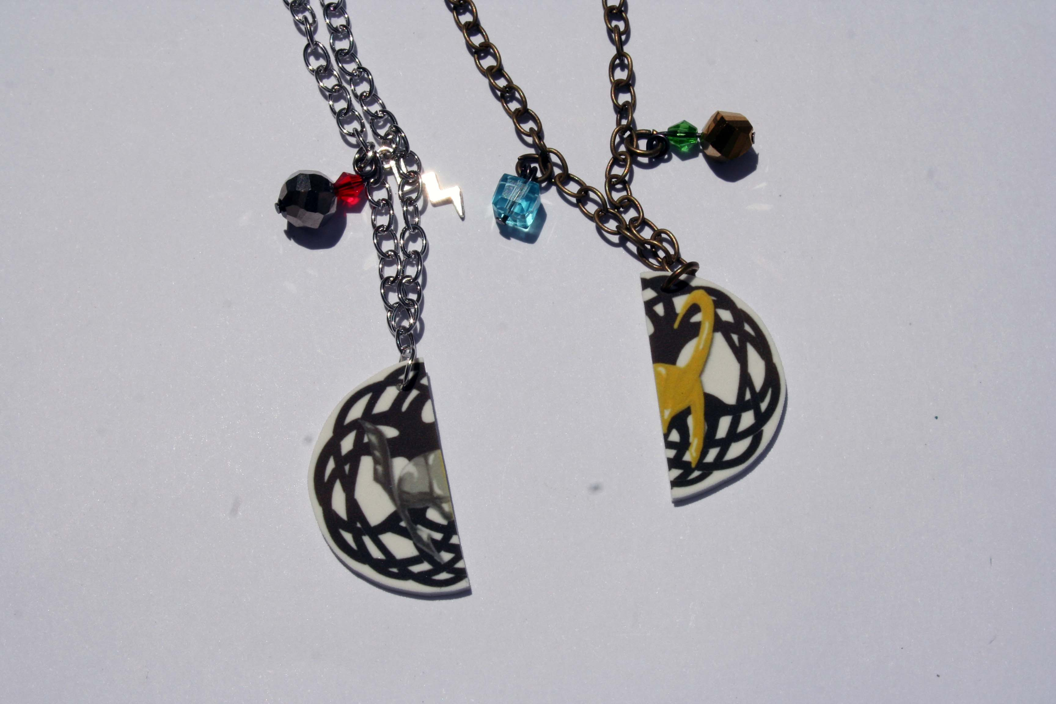 Loki And Thor Best Friend Necklaces Nerdy Robots
