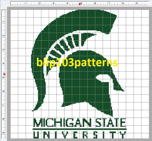 Michigan State University Cross Stitch Pattern On Storenvy