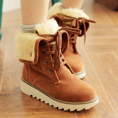 Plus size womens warm snow boots