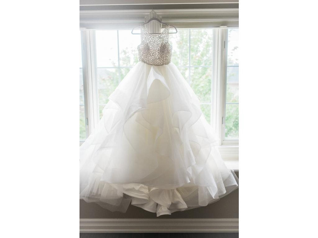 Organza Ball Gown Wedding Dress With Beaded Bodice 6413