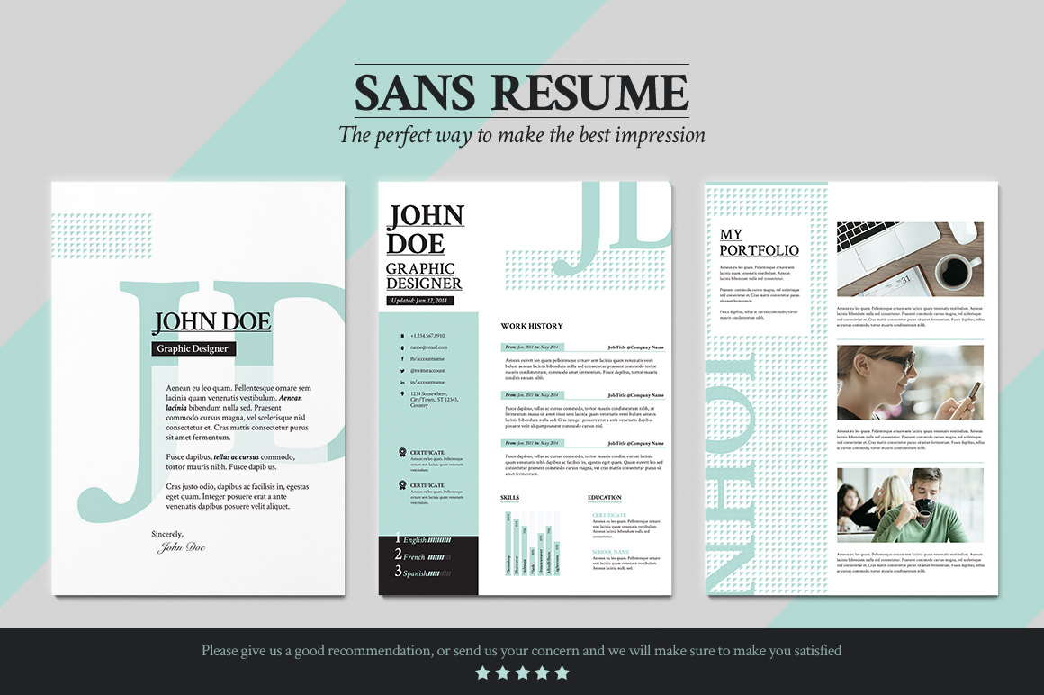 sans cover letter templates on creative