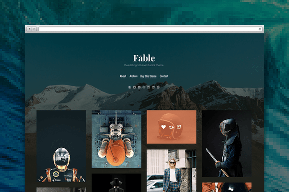 Fable tumblr theme