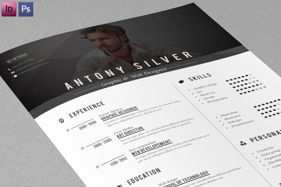 resume cover letter resume templates on creative market