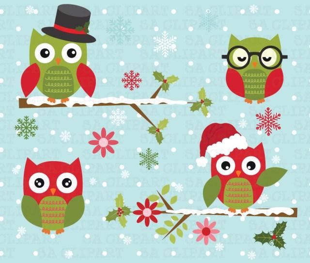 Cute Christmas Owl Wallpaper
