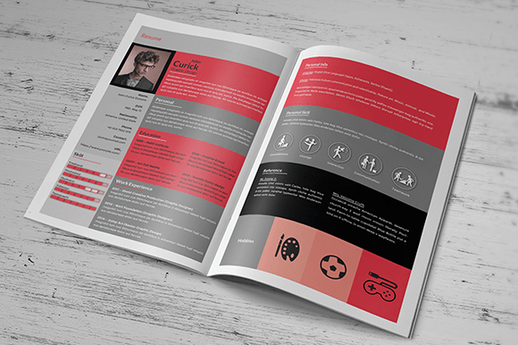creative resume booklet resume templates on creative market