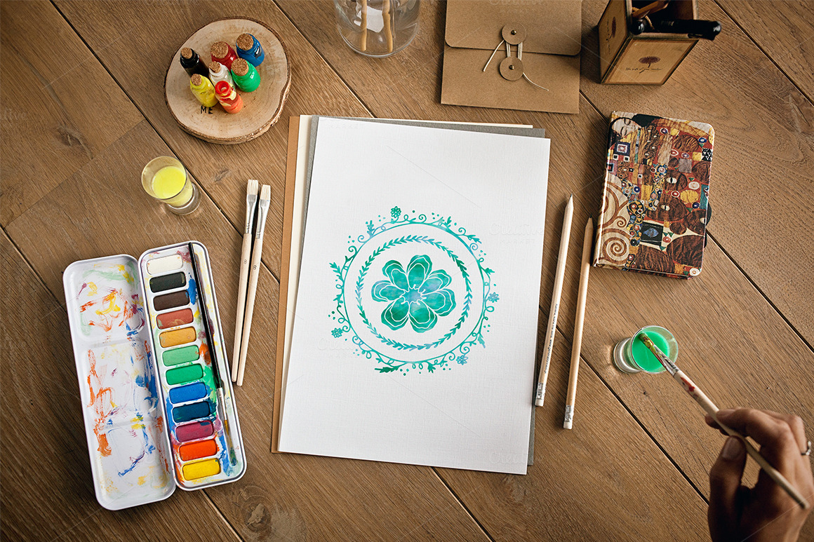Sketched And Painted Artwork Mockups Product Mockups On