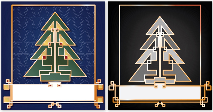 Christmas Card Art Deco Background Graphics On Creative