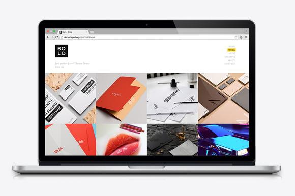 Bold - Portfolio WordPress Theme