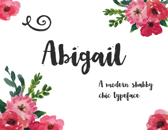 Abigail Script Fonts On Creative Market