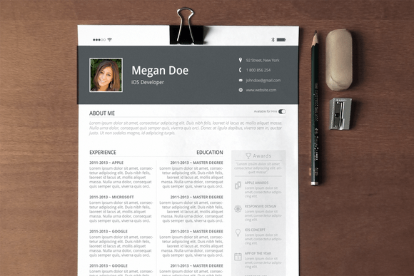 Resume Template Pages Ios Essay And Sample How