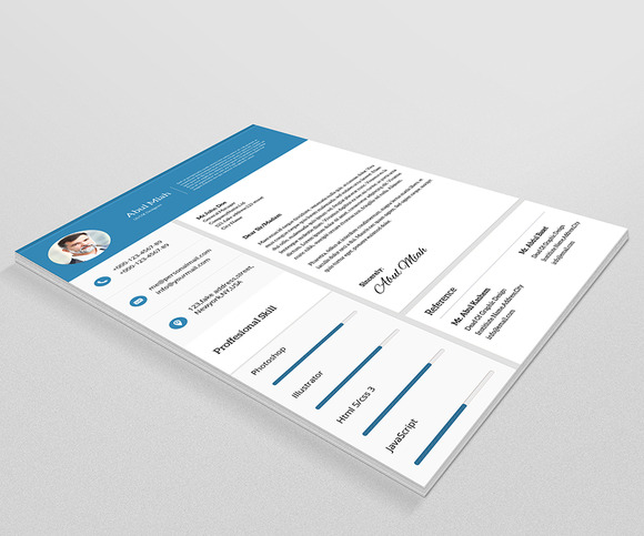 template 4 pack cv template3 material design template