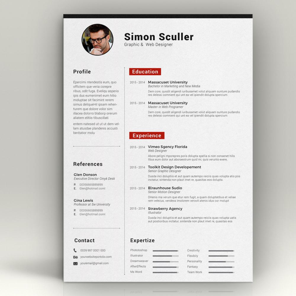 cv template resume templates on creative market