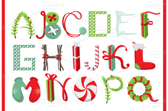 Christmas Lettering Objects On Creative Market
