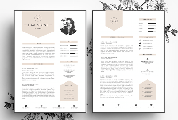 creative cv business card template resumes 1
