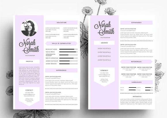 creative cv business card template resumes