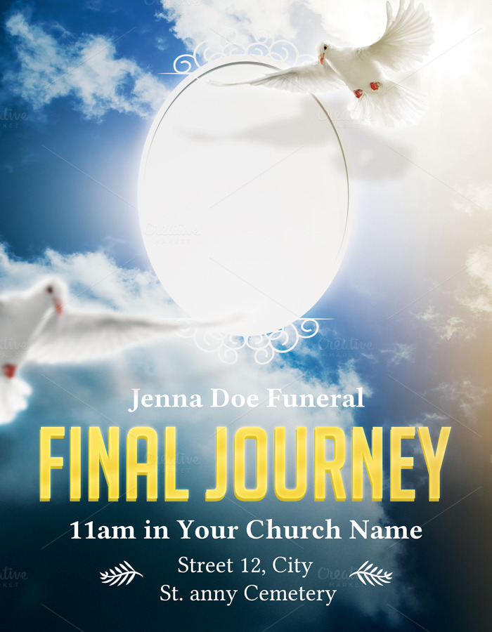Funeral Flyer Template Flyer Templates On Creative Market