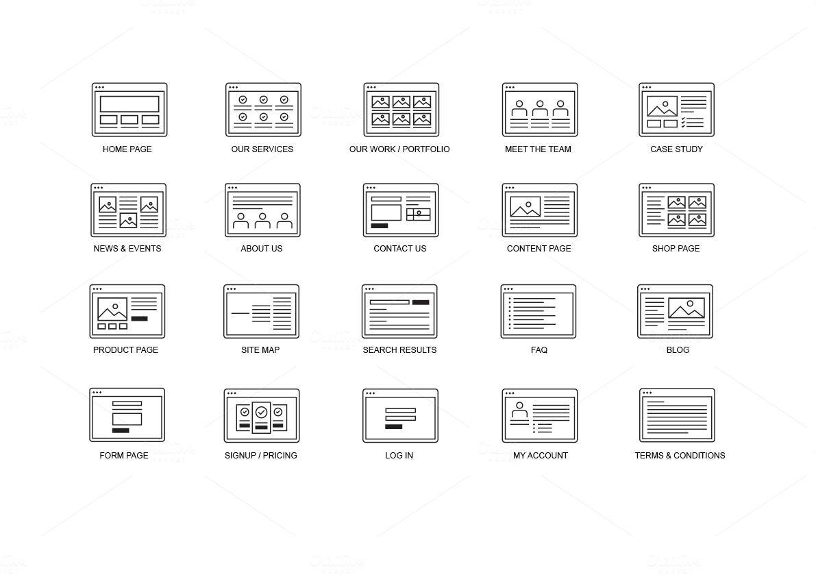 Website Site Map Kit Product Mockups On Creative Market