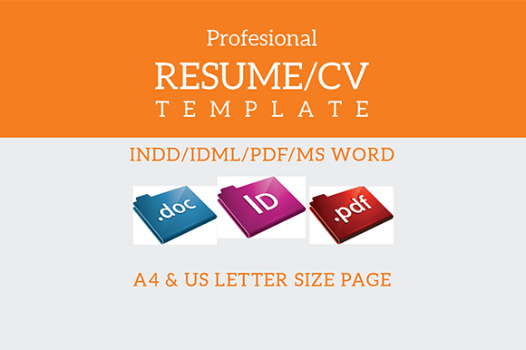 indesign resume template resume templates on creative market