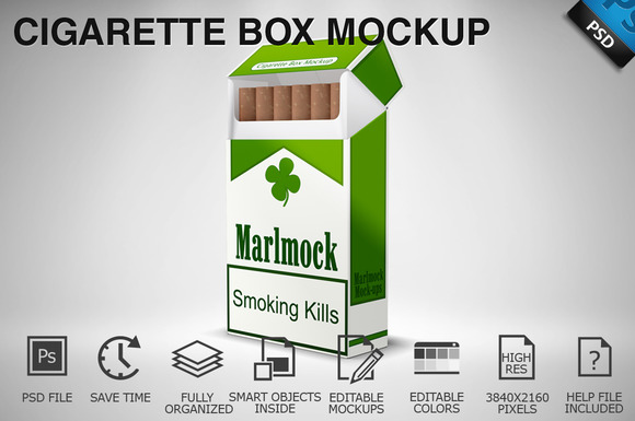 Download Cigarette Mockup Photoshop » Designtube - Creative Design ...