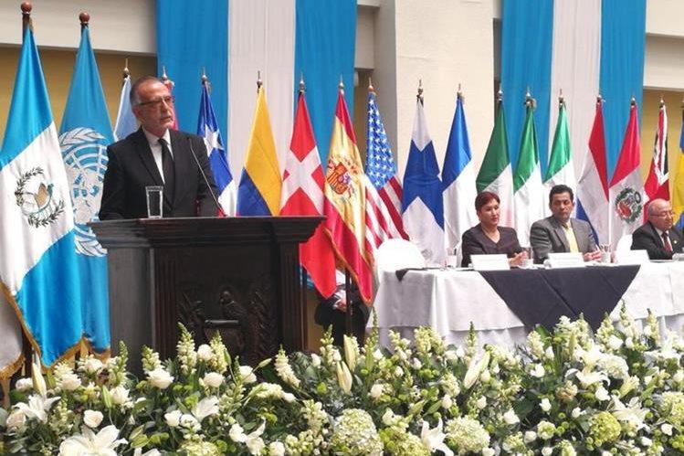 """Iván Velásquez, jefe de la Cicig, destacó los objetivos del mandato de la comisión, los cuales """"algunos sectores no los han entendido"""", según dijo.(Foto Prensa Libre: Esbin García)"""