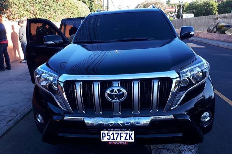 Vehículo que conducía Alex Ernesto Díaz Torres, alias Macho Prieto, cuando fue detenido. (Foto Prensa Libre: Ministerio Público)