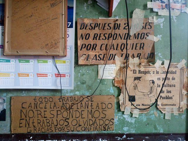 Conservan calendarios de décadas pasadas. (Foto Prensa Libre: José Luis Escobar).