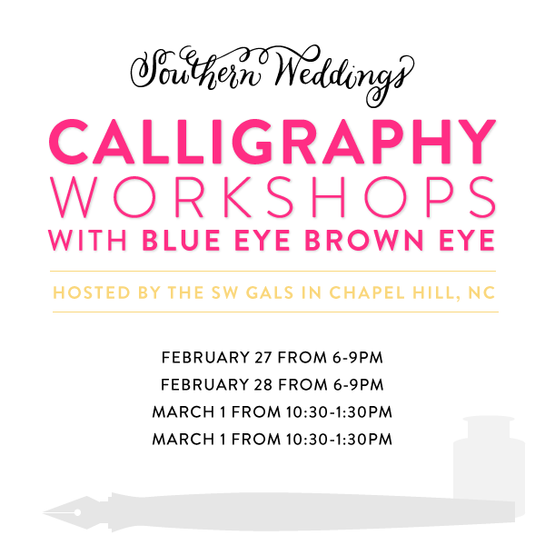 Southern-Weddings-Calligraphy-Workshop