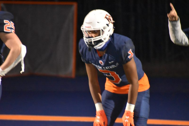 Eastside Catholic has now beaten O'Dea in the past two meetings, including a 20-0 victory Friday night - in front of no home spectators.