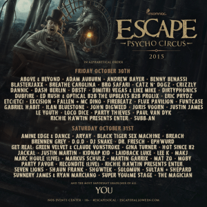 escape halloween lineup by day wallsviews co