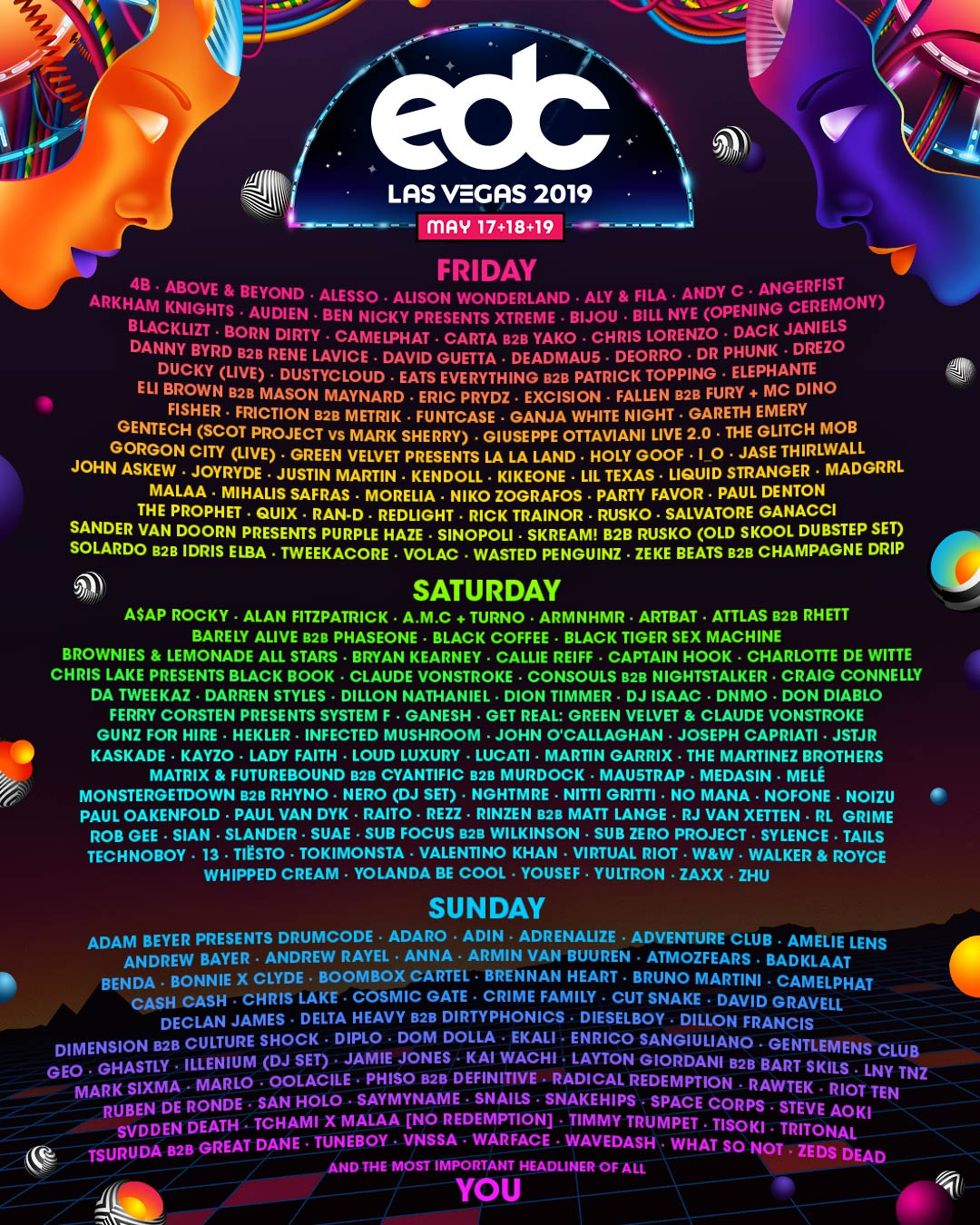 Image result for edclv 2019 lineup