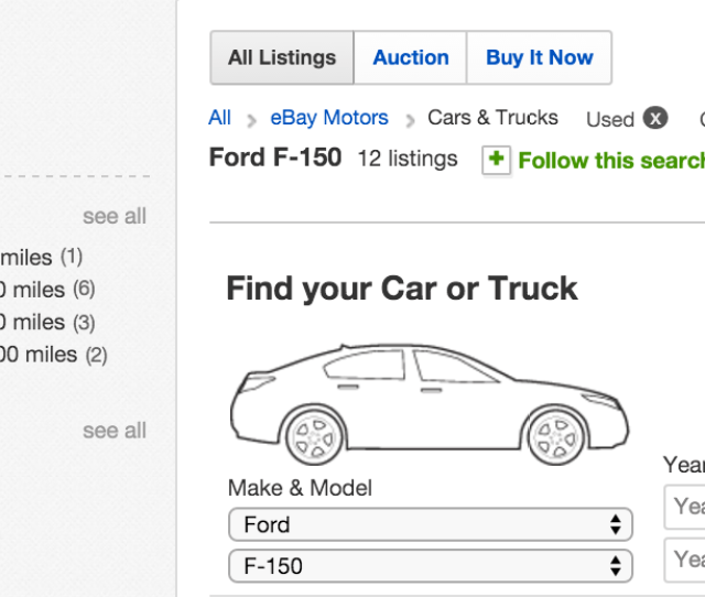Step 2 Search For Listings Search Ebay Motors To Bring Up Listings For The Vehicles You Are Interested In Buying You Can Further Narrow Down Your Search
