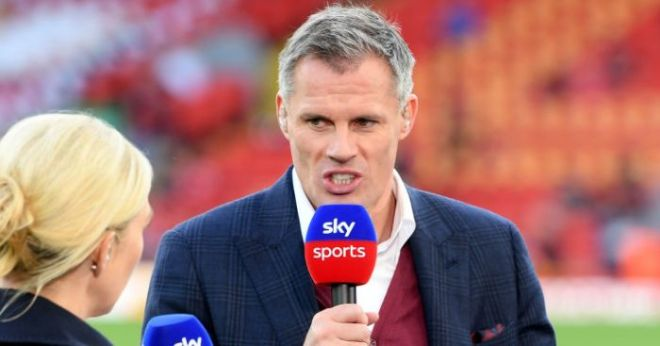 Former England striker says Jamie Carragher tried to lure him to Liverpool