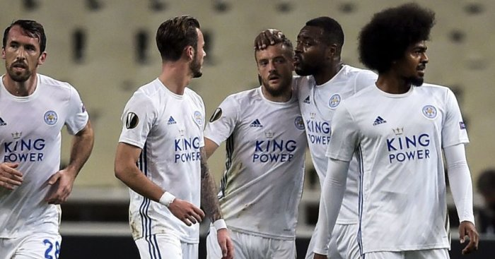 Vardy on the spot as Leicester stay 100% with win over AEK Athens