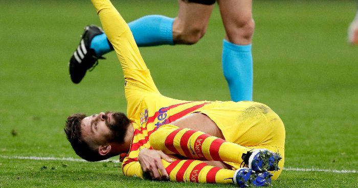Gerard Pique injured Barcelona