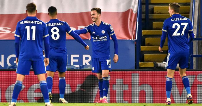 Powerful Maddison strike as Leicester go second in win over Southampton