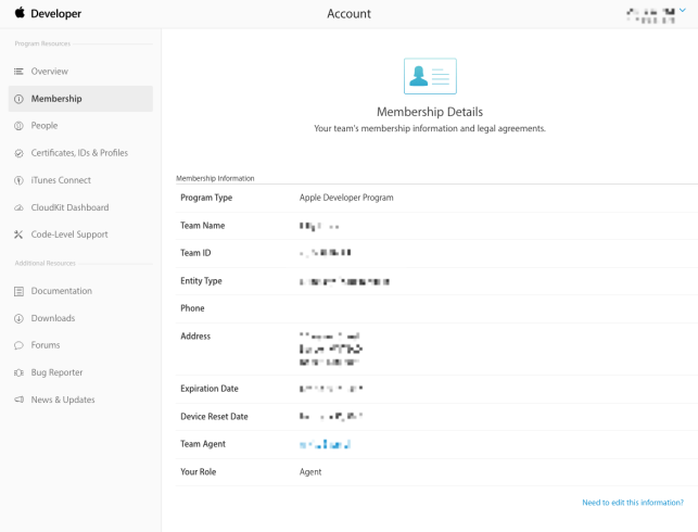 How to find your Apple Team ID and agent Apple ID