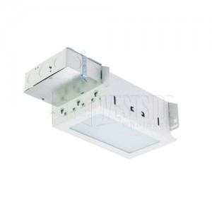halo h2932t recessed light kit rectangular line voltage non ic closet light housing w white lens for new construction
