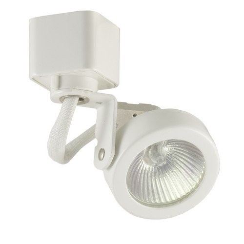 halo l2716p track lighting lazer low voltage mr16 power trac gimbal ring track fixture white