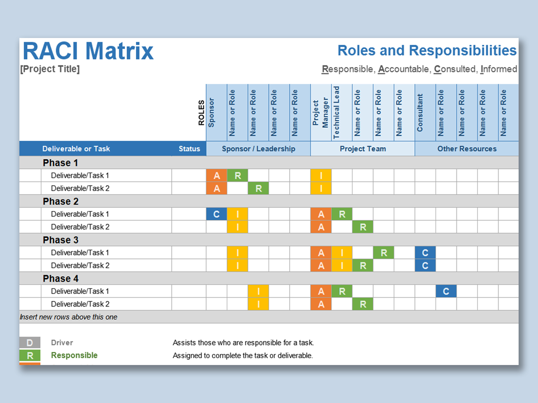 Raci Matrix Template Excel Free Download