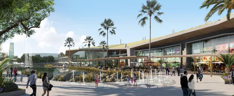 Recreación de cómo será el centro comercial Palmas Altas, en Sevilla.