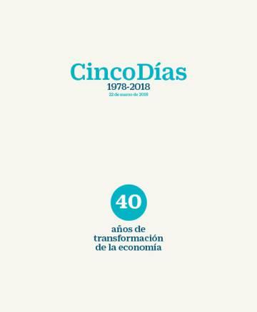 'Cinco Días' celebra este jueves 40 años de economía con un libro especial