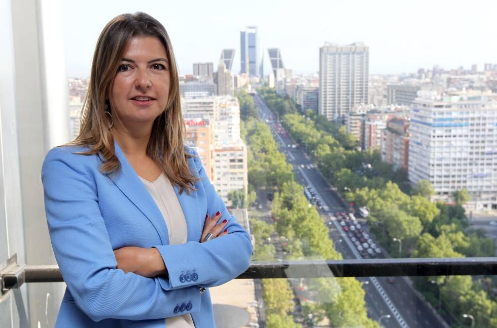 Stefanie Granado, en la sede de Shire en Madrid.