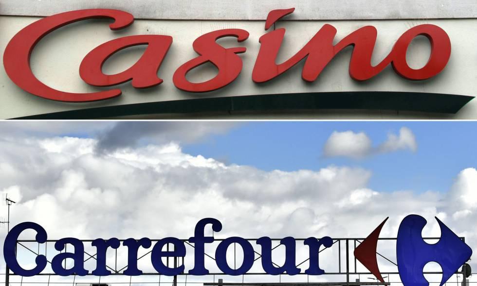Logos de Casino y de Carrefour