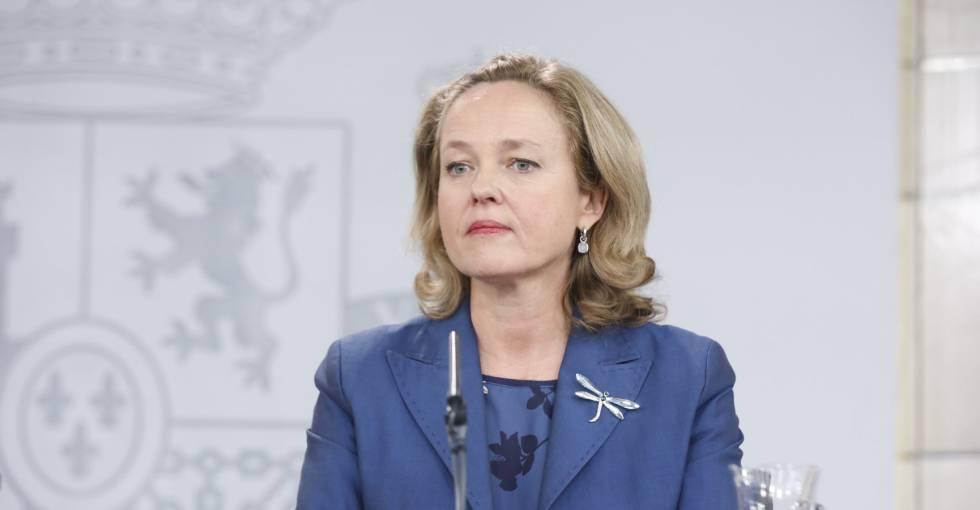 Nadia Calviño, ministra de Economía, tras el Consejo de Ministros