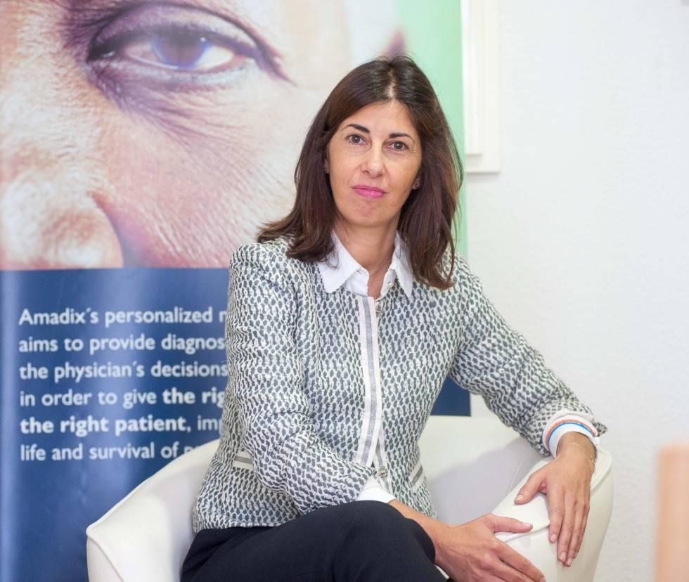 Rocío Arroyo, CEO de Amadix, en la sede de la empresa en Madrid.