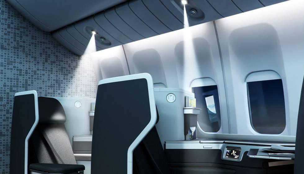 Luz de lectura adaptable de Collins Aerospace.