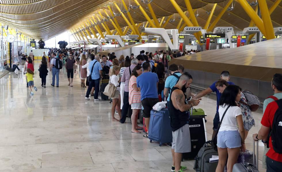 Área de embarque de la T4 de Madrid-Barajas.