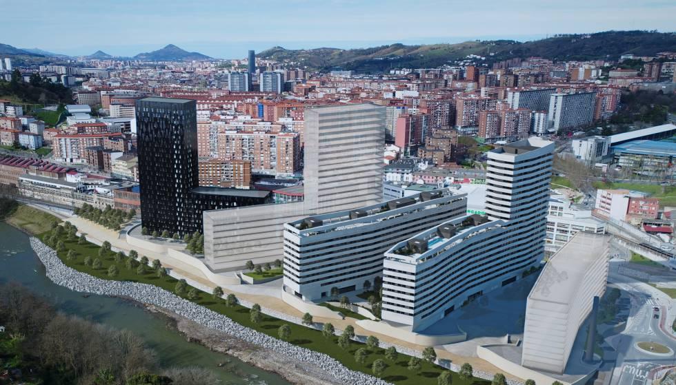Promoción de viviendas de Neinor en Bilbao.