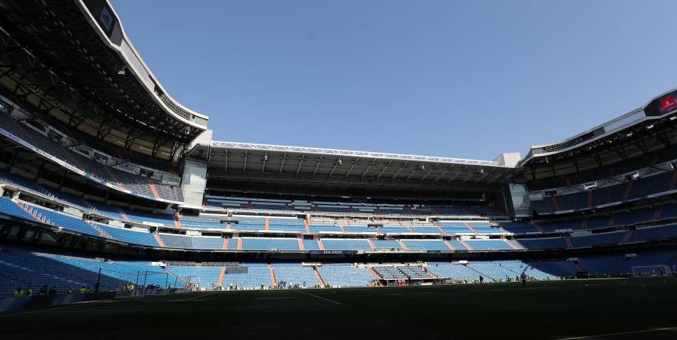 Imagen del estadio Santiago Bernabéu, donde el Real Madrid juega sus partidos.
